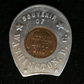 1936 Washington D.C. encased souvenir cent