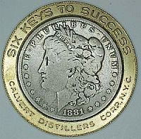 Encased Morgan Dollar - Calvert wiskey Keys to Success