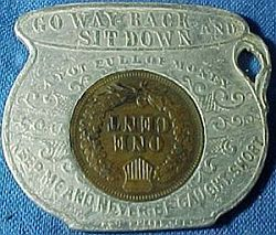 1905 Souvenir of Niagra Falls Chamber Pot Encased Cent