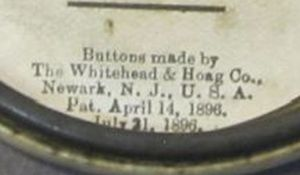 Section of Pan Am Expo back showing the copyright info on Whitehead & Hoag